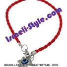 87349- SET OF 10PCS RED BRAIDED KABBALAH MAGEN DAVID 20 CM judaica GIFT from Israel.