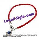 87350- SET OF 10PCS RED BRAIDED KABBALAH HAMSA 20 CM judaica GIFT from Israel.