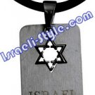 9483 - STAINLESS STEEL PENDANT- MAGEN DAVID, JUDAICA GIFT FROM ISRAEL