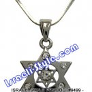9499 - RHODIUM PENDANT MAGEN DAVID WITH STONES, 2 CM, JUDAICA GIFT FROM ISRAEL