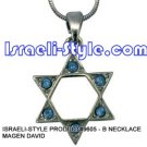 9605 - NECKLACE MAGEN DAVID  , JUDAICA GIFT FROM ISRAEL