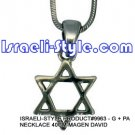 9963 - NECKLACE 40CM MAGEN DAVID, JUDAICA GIFT FROM ISRAEL