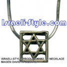 9982 - NECKLACE MAGEN DAVID IN SQUARE, JUDAICA GIFT FROM ISRAEL