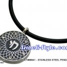 """86641 - STAINLESS STEEL PENDANT- """"CHAI"""", JUDAICA GIFT FROM ISRAEL"""