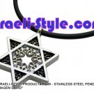 "86649 - STAINLESS STEEL PENDANT- ""MAGEN DAVID"", JUDAICA GIFT FROM ISRAEL"