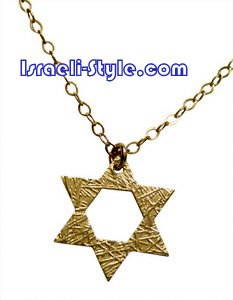 FREE SHIPPING!!9507- GOLD FILLED PENDANT STAR OF DAVID 1.7 CM , INC' CHAIN/ jewelry