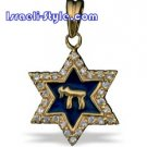 FREE SHIPPING!! 90019-OPAL STONE GOLD FILLED MAGEN DAVID /star of david,hebrew jewelry judaica CHAI