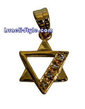 FREE SHIPPING!! 90053- 1.5cm,GOLDFILLED PENDANT- MAGEN DAVID /hebrew jewellry judaica