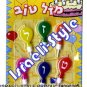 "9028 - CANDLES FOR CAKE, HEBREW ""MAZAL TOV"" FREE SHIPPING"