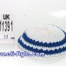 free shipping!!LOT OF 5PCS 11391 -18CM KNITTED KIPPAH BLUE YARMULKE/KIPPAH