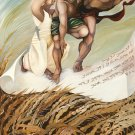 """Judaica bible original oil painting by iris vexler: Psalm """"May they be like chaff before the wind"""""""