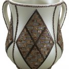 "86700 - HAND WASH JEWISH CUP,""MAIM ACHRONIM"" 15 CM ""netilat yadaim"""