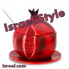 "87131-2 ROSH HASHANA GIFTS-CERAMIC HONEY DISH ""POMEGRANATE"" 11CM from israel- ROSH HASHANA jewish"