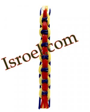 """87888 - CANDLE FOR HAVDALAH- """"COLORFUL"""" 30 CM"""