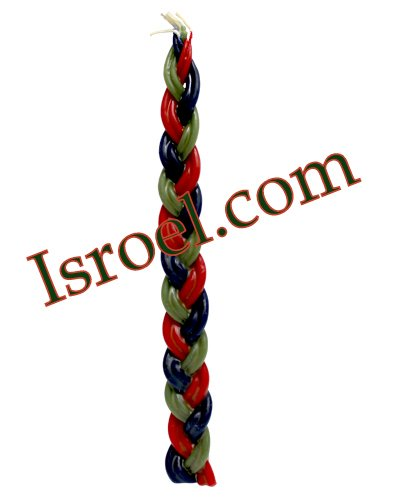 """87682 - CANDLE FOR HAVDALAH- """"BRAIDED"""" 36CM judaica from israel"""