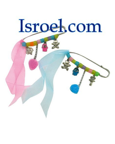 9085 - PIN FOR CRADLE HAMSA PROTECTION COLORFUL,/ jewish toys for kids children