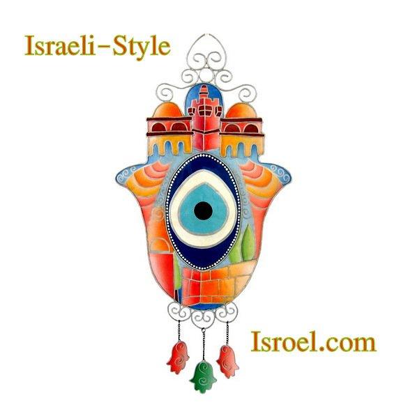 85852 OUTDOOR DECOR- HAMSA EYE 67CM. CHAMSA GIFT FROM ISROEL.COM / ISRAELI-STYLE