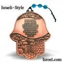 86449 -COPPER HAMSA HOME BLESSING 12CM. CHAMSA GIFT FROM ISROEL.COM / ISRAELI-STYLE