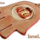 9924 - CERAMIC COLORFUL HAMSA 16*10 CM- POMAGRANADE. CHAMSA GIFT FROM ISROEL.COM / ISRAELI-STYLE