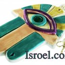 09927 - CERAMIC COLORFUL HAMSA 16*10CM POMAGRANADE. CHAMSA GIFT FROM ISROEL.COM / ISRAELI-STYLE