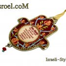 73945 - PEWTER HAMSA, ENGLISH HOME BLESS 12CM- POMEGRANATE.GIFT FROM ISROEL.COM/ISRAELI-STYLE