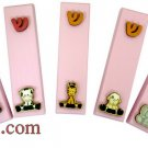 9452 LOT OF 5PCS CHILDREN L. PINK MEZUZAH 7CM 3D- ASORTED DESIGNS, ISRAEL JUDAICA MEZUZAH