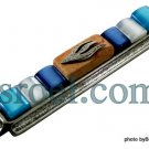 70557 - PEMEZUZAH 7 CM BLUE STONES,  ISRAEL JUDAICA MEZUZA FOR PROTECTION BY ISROEL.COM