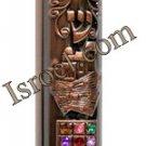 """DISCOUNT DESIGNER MEZUZAH 28473 COPPER MEZUZAH 12CM """"HOSHEN"""", ISRAELI JUDAICA MEZUZA BY ISROEL.COM"""