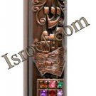 MEZUZAH DOCTOR 28473 COPPER MEZUZAH 12CM &quot;HOSHEN&quot;, ISRAELI JUDAICA MEZUZA BY ISROEL.COM