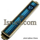 DESIGNER MEZUZAH 73874 MEZUZAH 10CM,HAND MADE BLUE, MAGEN DAVID,ISRAELI JUDAICA MEZUZA BY ISROEL.COM