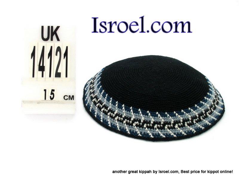14121-CHEAP KIPA,DISCOUNT KIPPOT,KNITTED KIPA, yarmulke kippahs for sale,designs A KIPPAH designs