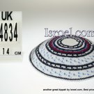 14834-klipped kippahs, kippahs for weddings, kippahs,kippa, kippot, cheap kippahs,bar mitzvah kippah
