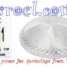 00341- WHOLESALE LOT OF KIPOT, HIGH QUALITY WHITE TERYLENE KIPA / KIPPAH / YARMULKE / YAMAKA / KIPPA