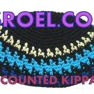 """11128 -BULK LOT OF 21CM """"FREAK"""" FRIK KIPPAH BLACK DIAMOND/kipa/kippa/yarmulke/yamaka"""