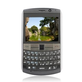 W9800+ WIFI TV GPS Windows Mobile 6.5 Dual Card QWERTY Touch Screen Cell Phone Black
