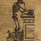 Vintage, Altered, Whimsical, Ephemera, Iron On,  SKELETON Digital Image No.7