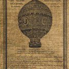 Vintage,  Altered, Iron On, Ephemera, Airballoon Digital Image Transfer No.46