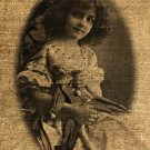 Vintage GIRL,  IRON ON Digital Image Transfer No.71