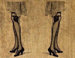 Vintage PRINT, IRON ON, DOWNLOAD Digital Image Transfer LEGS  No.83