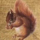 Vintage, Altered, Whimsical, Ephemera, Iron on, Digital Image SQUIRREL No. 101