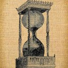 Vintage , Iron On, Altered, Whimsical, Ephemera,  HOURGLASSES Digital Image  No.4