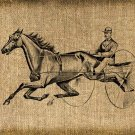 Vintage HARNESS RACING Iron On Digital Image Transfer No.123
