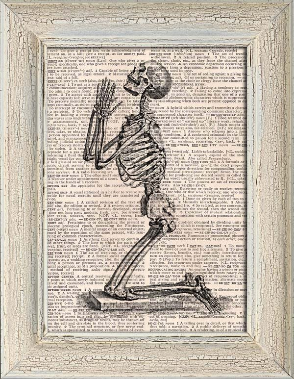 Art Print, Vintage ANATOMY, Dictionary Page Print 0136