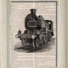 Art Print, Vintage, LOCOMOTIVE, Dictionary Page Print 0098
