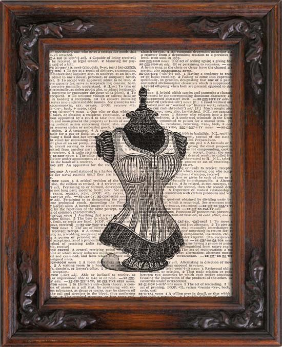 Art Print, DRESS FORM, Vintage, Dictionary Page Print 0122