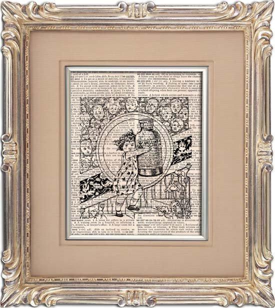 Art Print, VINTAGE ADVERTISEMENT, Vintage, Dictionary Page Print 0115