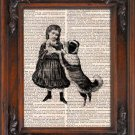 Art Print, Vintage, Don't Hurt My Baby, Dictionary Page Print 0105