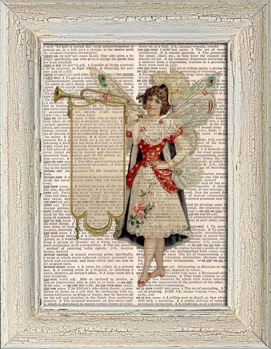 Art Print, Vintage, Dictionary Page Print 0104