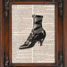 Art Print, Vintage, PRETTY VINTAGE SHOE, Dictionary Page Print 0099