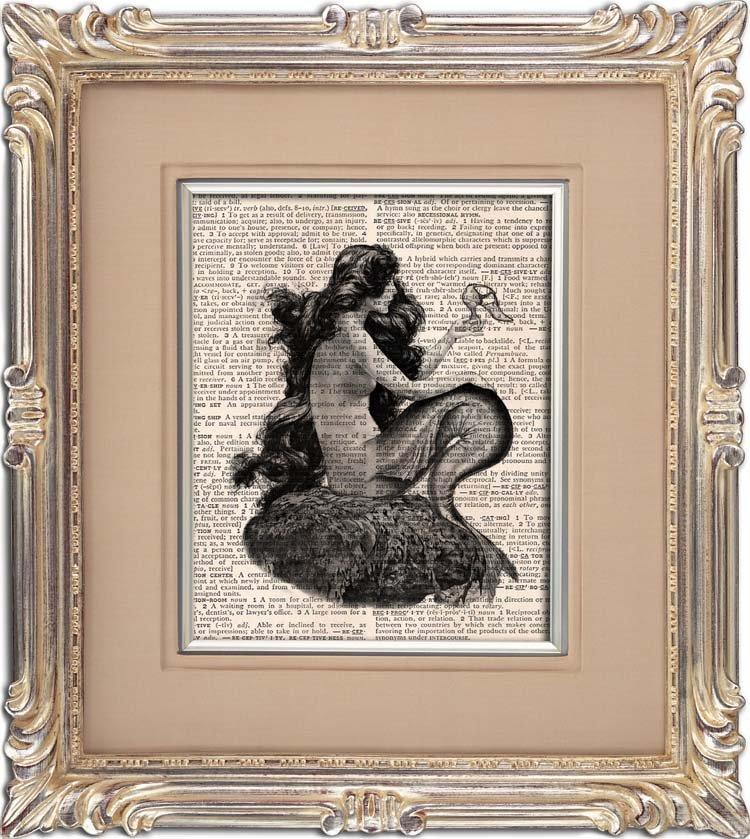 Art Print, Vintage, Little MERMAID, Dictionary Page Print 0094